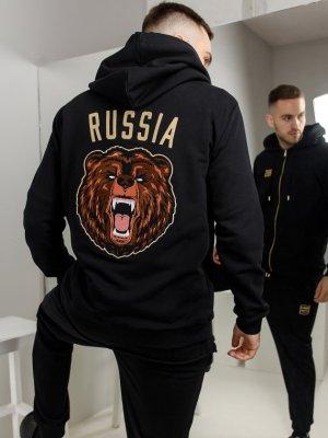 Костюм спортивный RUS BEAR Black Star Wear. Цвет: черный