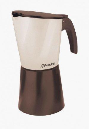 Кофеварка Rondell Mocco & Latte. Цвет: коричневый