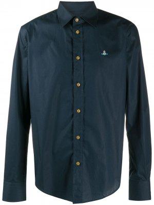 Поплиновая рубашка Vivienne Westwood. Цвет: синий