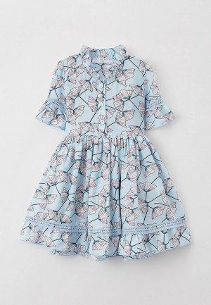 Платье Ete Children. Цвет: голубой