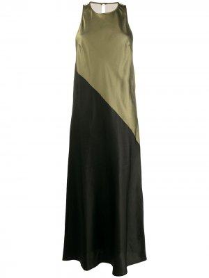 Платье макси без рукавов 8pm. Цвет: зеленый