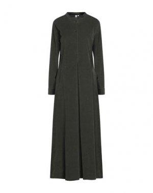Длинное платье EUROPEAN CULTURE. Цвет: темно-зеленый