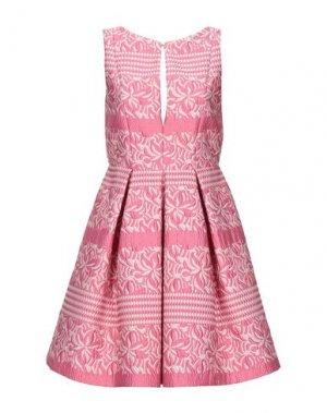 Короткое платье KI6? WHO ARE YOU?. Цвет: розовый
