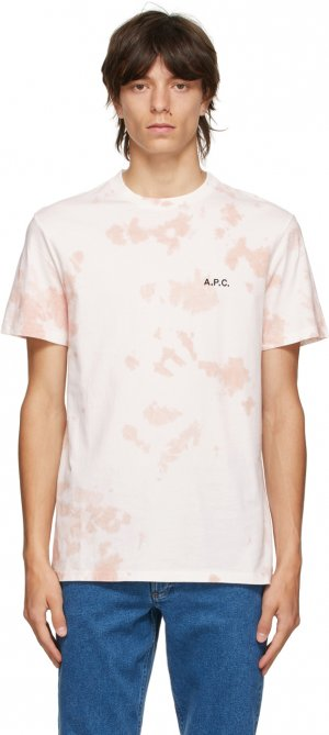 Pink Tie-Dye Ali T-Shirt A.P.C.. Цвет: faa pink