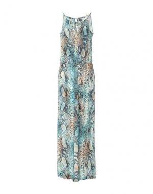 Длинное платье CLIPS. Цвет: бирюзовый