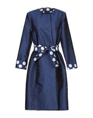 Легкое пальто BOTONDI MILANO. Цвет: темно-синий
