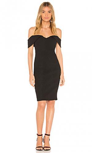 Мини платье eva Bardot. Цвет: черный