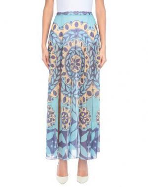 Длинная юбка AGOGOA. Цвет: грифельно-синий