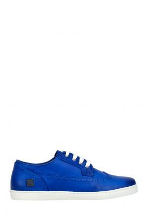 Кожаные ботинки CR7. Цвет: синий