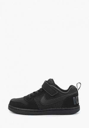Кеды Nike BOYS COURT BOROUGH LOW (PS) PRE-SCHOOL SHOE. Цвет: черный
