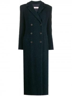 Длинное пальто 1990-х годов Romeo Gigli Pre-Owned. Цвет: синий