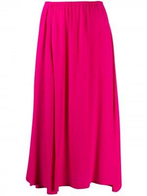 Расклешенная юбка миди Alysi. Цвет: розовый
