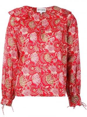 Блузка с цветочным принтом Antik Batik. Цвет: красный
