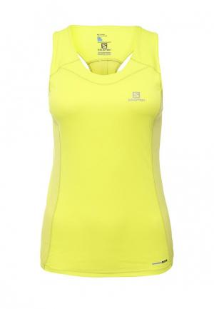 Майка спортивная Salomon AGILE TANK W Yuzu Yellow. Цвет: разноцветный