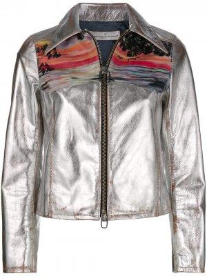 Mira sunset print jacket Golden Goose. Цвет: серый