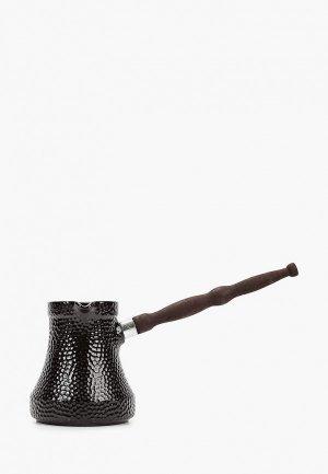 Турка Ceraflame керамическая, Ibriks Hammered, 0.5 л. Цвет: черный