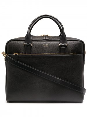 Leather briefcase Tom Ford. Цвет: черный