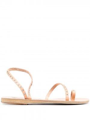 Декорированные сандалии с кристаллами Ancient Greek Sandals. Цвет: нейтральные цвета