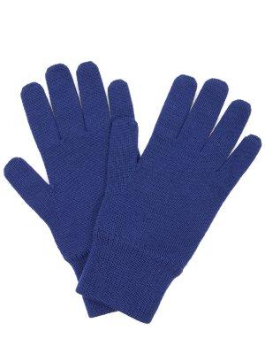 Перчатки шерстяные Canoe. Цвет: синий