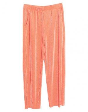 Повседневные брюки JACQUELINE de YONG. Цвет: коралловый