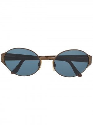 Солнцезащитные очки 2000-х годов с тисненым логотипом Yves Saint Laurent Pre-Owned. Цвет: черный