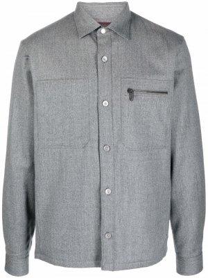 Куртка-рубашка Z Zegna. Цвет: серый