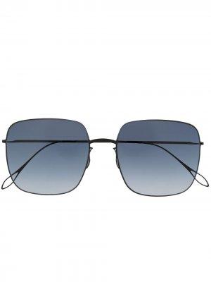Массивные солнцезащитные очки Delavault Haffmans & Neumeister. Цвет: черный