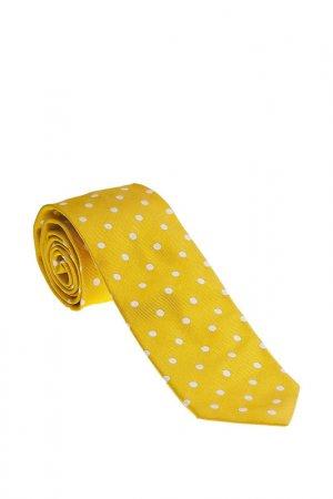 Галстук Ascot. Цвет: желтый в белый горох