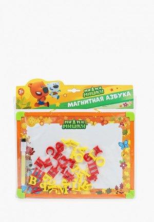 Игрушка Играем Вместе Магнитная азбука, доска, 33 магнита-буквы. Цвет: разноцветный