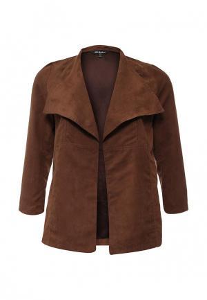 Куртка Ulla Popken. Цвет: коричневый