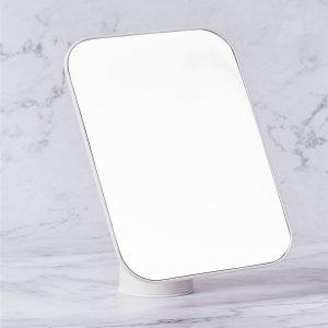 Настольное зеркало для макияжа SHEIN. Цвет: белый