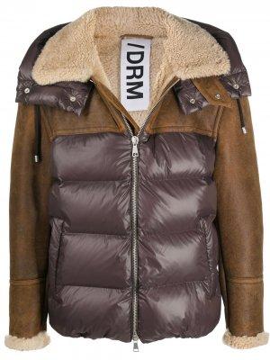 Стеганая куртка с контрастными вставками Drome. Цвет: коричневый