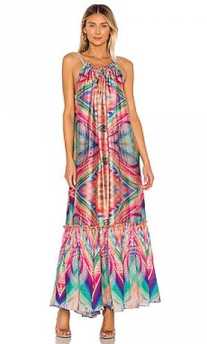Макси платье kaleidoscope Le Superbe. Цвет: розовый