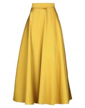 Длинная юбка CASTING. Цвет: охра