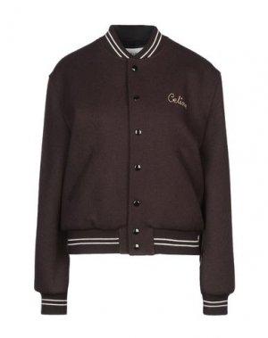 Куртка CELINE. Цвет: темно-коричневый