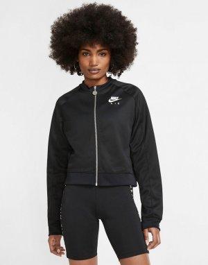 Черная короткая олимпийка на молнии air-Черный Nike