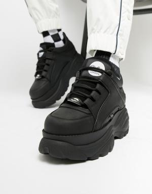 Черные кроссовки на массивной подошве -Черный цвет Buffalo