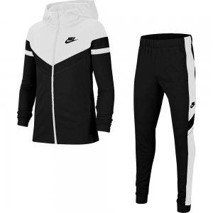 Poly Woven Tracksuit Nike. Цвет: черно-белый