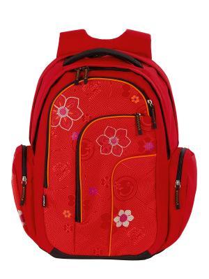 Рюкзак 4YOU MOVE КРАСНЫЙ ЦВЕТОК. Цвет: красный