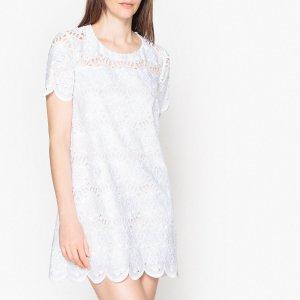 Платье LaRedoute. Цвет: белый