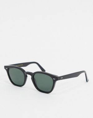Черные круглые солнцезащитные очки Monokel-Черный Monokel Eyewear