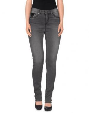 Джинсовые брюки-капри MAISON SCOTCH. Цвет: свинцово-серый