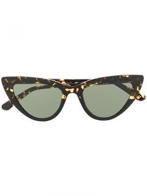 Солнцезащитные очки в оправе кошачий глаз L.G.R. Цвет: черный