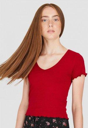 Пуловер Stradivarius. Цвет: красный