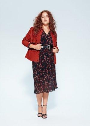Кожаная куртка с бахромой - Country Mango. Цвет: красный