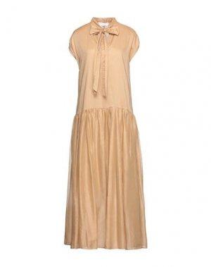 Длинное платье KAOS. Цвет: песочный