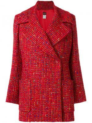 Пальто с воротником Kenzo Pre-Owned. Цвет: красный