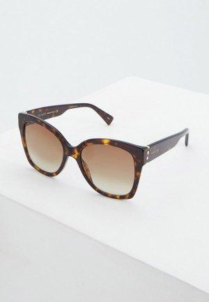 Очки солнцезащитные Gucci GG0459S002. Цвет: коричневый