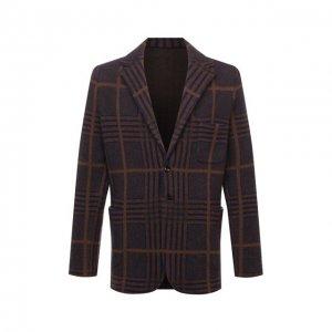 Кашемировый пиджак Kiton. Цвет: коричневый
