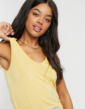 Желтая майка в полоску -Желтый Vero Moda